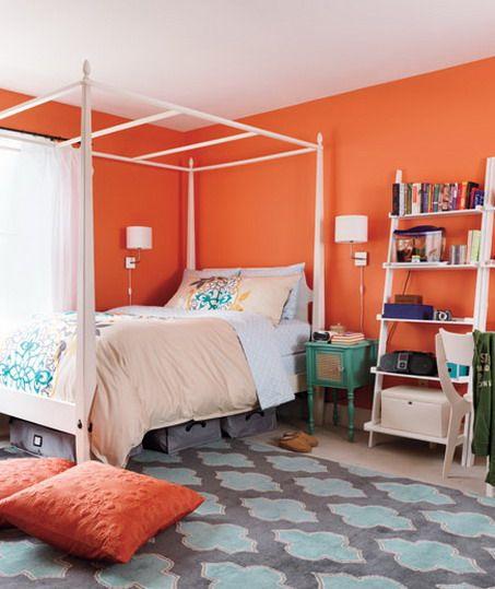 Orange Kids Room: Orange Is FUN For A Teen Bedroom !