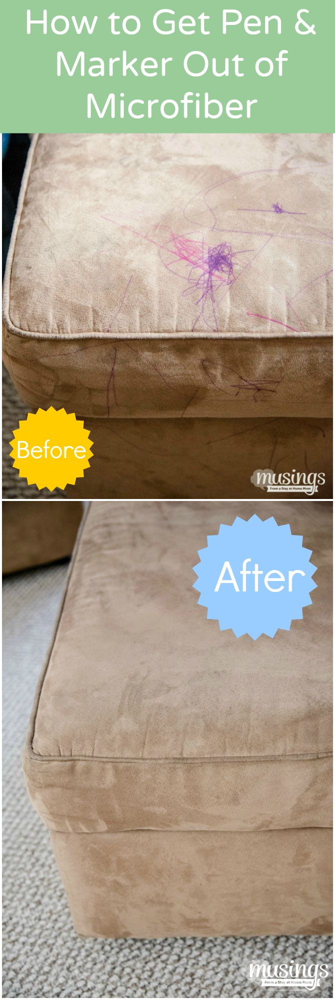 Cleaning Tips: How to Get Pen and Marker out of a Microfiber Couch