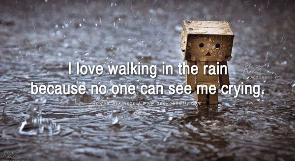 Sad Love Quotes About Rain : ... Boxmen QUOTES on Pinterest George burns, Sad love quotes and Rain