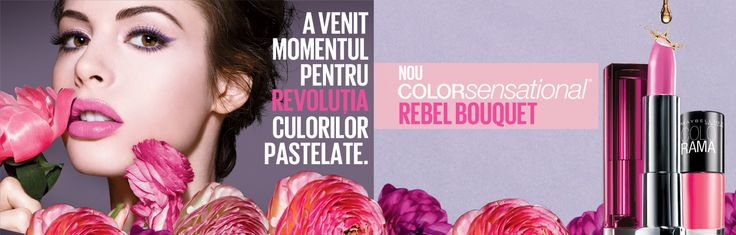O explozie senzationala de 8 nuante vibrante de roz, rosu si mov. Must have for this SPRING www.maybelline.ro