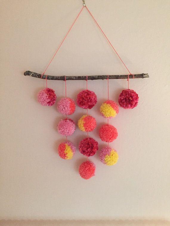 Custom 12 Pom Hanging /Pom Pom Hanging / Wall Art / by PomPomGive