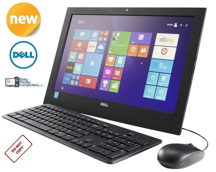 "BRAND NEW DELL Desktop Computer All in One 19.5"" with Windows 10 (FULLY LOADED) #Dell"