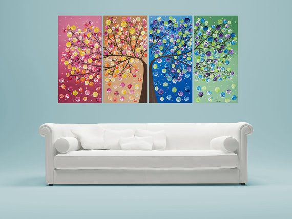 Utilisez plusieurs toiles de se connecter et de faire une œuvre d'art.