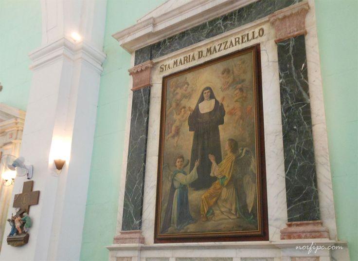 Imagen de La Madre Mazzarello en la Iglesia María Auxiliadora en la Habana Vieja