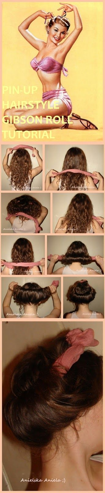 gibson roll hairstyle