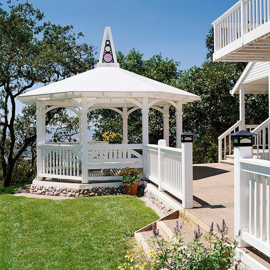 Gazebo addition close to home this design proves that you can build a gazebo close to