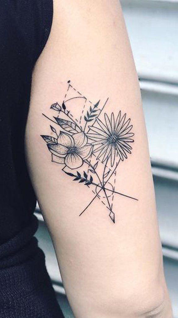 30 Delicate Flower Tattoo Ideas Tricep Tattoos Back Of Arm