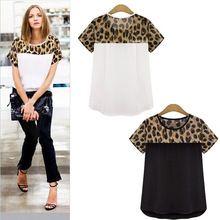 Nuevo talla grande mujer blusa chifon blanco camisa de leopardo imprimir Blusas desgaste del trabajo del OL Tops Blusas femeninas 2015 XXL XXXL(China (Mainland))