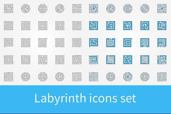 Labyrinth Icons Set With Images Icon Set Technology Icon Icon