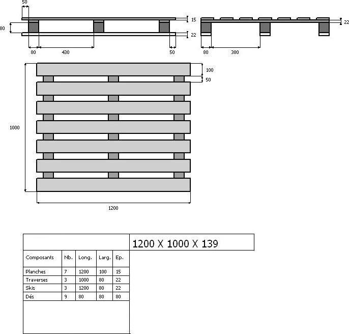 Assez 8 best -Bois-Palettes Dimensions- images on Pinterest | Pallets UL07