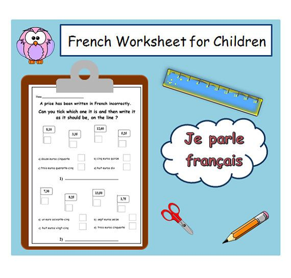 French Learning Numbers Worksheet Kids Activities Printables Etsy Learn French French Learning Activities Learning Numbers