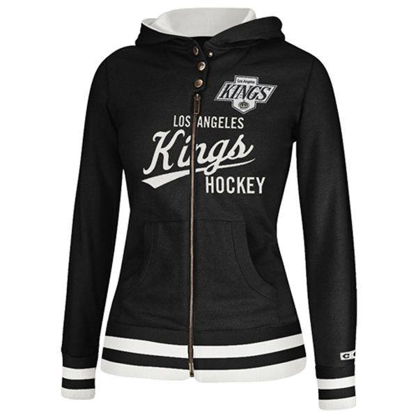 Los Angeles Kings Women's CCM Full Zip Hoodie - Black