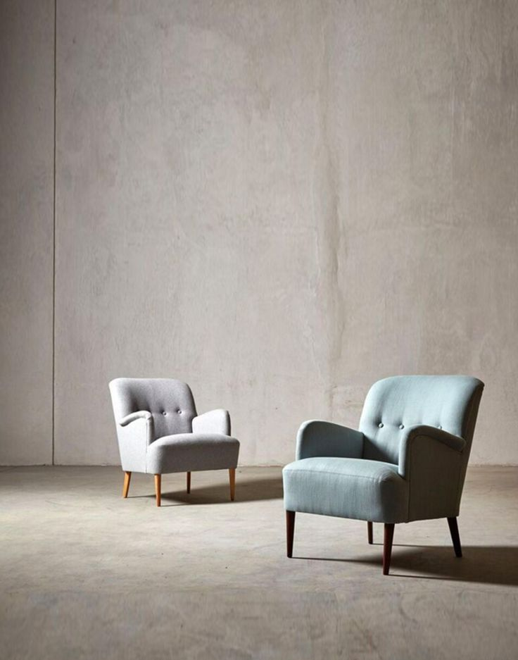 The LONDON armchair - in Light Grey wool and Alpine house weave - Swoon Editions - swooneditions.com