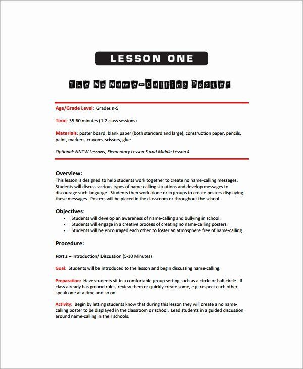 Elementary Art Lesson Plan Template Awesome Sample Art Lesson Plan 8 Documents Middle School Lesson Plans Lesson Plan Templates Elementary Lesson Plan Template