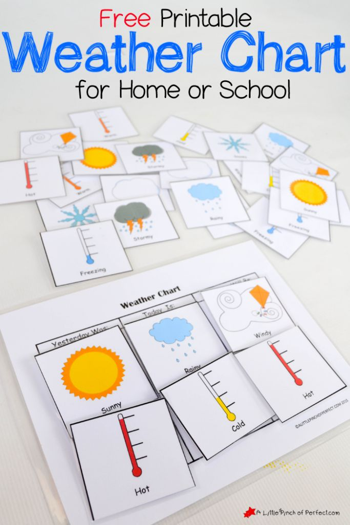 Free+Printable+Weather+Chart+for+home+or+school-perfect+for+hands+on+learning