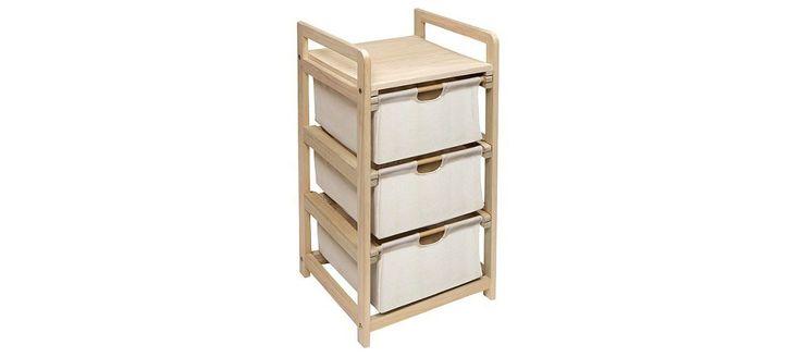 Store yarn?  Hamper 3-Drawer Storage Unit - Natural