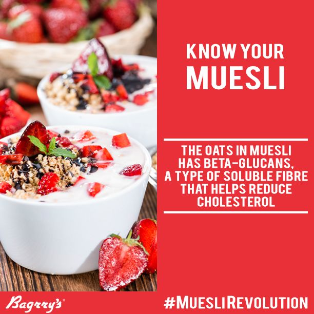 One of the main ingredients of Muesli is Oats. Oats are high in fibre and have various nutritional benefits. Here is one such benefit.  #KnowYourMuesli #Muesli #MuesliRevolution #Bagrrys #Healthy #Oats