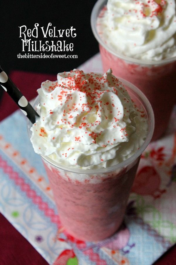 Use leftover cupcakes and make a whole new dessert with this Red Velvet Milkshake.