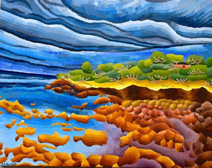 Shack Landscape, oil on canvas, Elisabeth Howlett, 2015