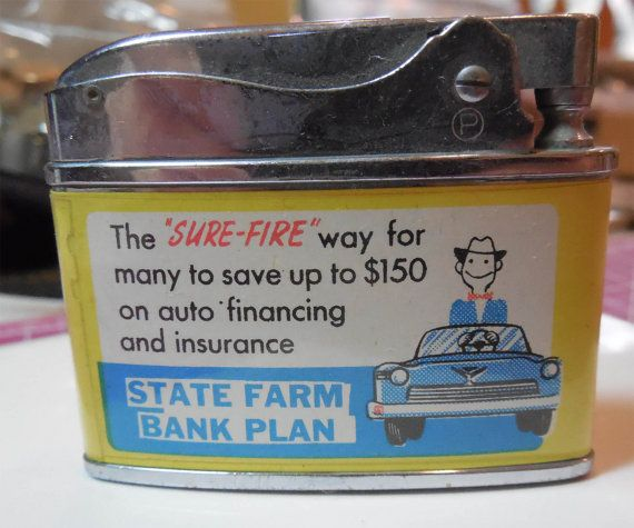 State Farm Insurance Advertising Lighter - Penguin Superlative Automatic