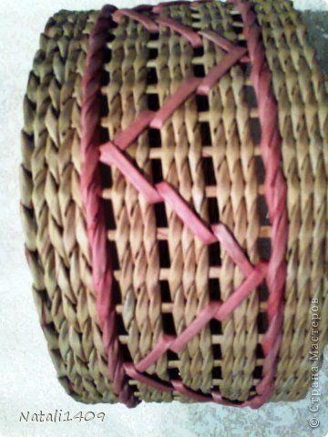 Декор предметов Поделка изделие Декупаж Плетение Ажурные ромбики Бумага газетная Салфетки Трубочки бумажные фото 3
