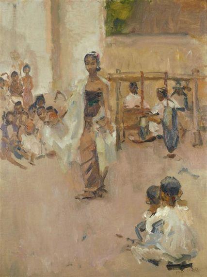 Isaac Israëls - The Performance; Medium: Oil on canvas
