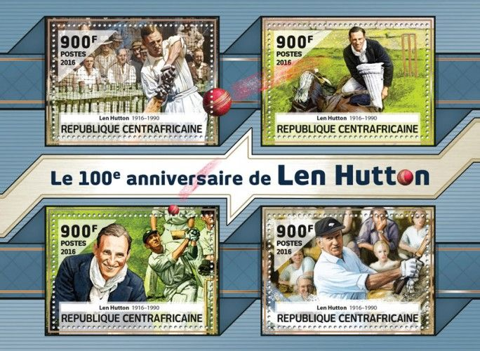 CA16513a The 100th anniversary of Len Hutton (Len Hutton (1916-1990)) (Cricket)