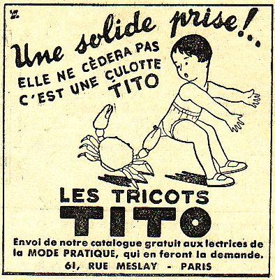 vieille affiche culotte TITO pub07