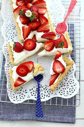 Strawberry tart recipe. Crostata di fragole con camy cream