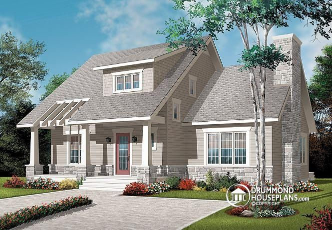 W3515 house plan with cathedral ceiling master bed with for Cathedral ceiling home plans