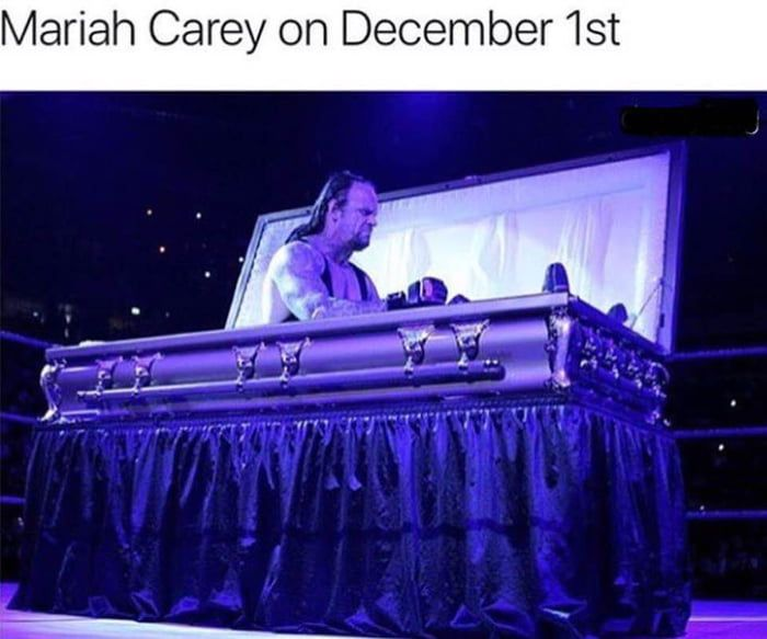 Mariah Carey On December 1st Christmas Memes Funny Wwe Funny Wwe Memes