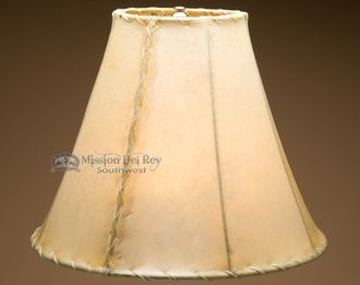 """Rawhide Lamp Shades for Southwestern Lamps (16"""""""" bell)"""