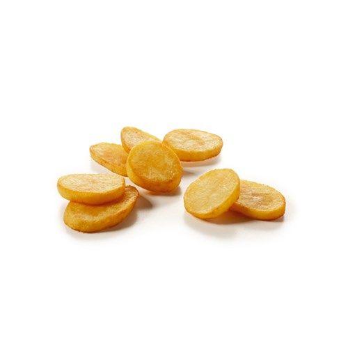 Pom' Sautées: geschilde in schijfjes gesneden aardappelen. Met het brede aanbod diepvries specialiteiten kunt u verrassend gemakkelijk inspringen op veranderende behoeften van uw klanten. #aardappelschijfjes