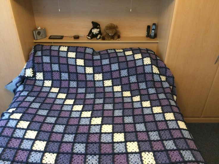 Hand made crochet double bed size. Made from Acrylic/Wool mix.