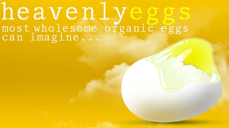 Heavenly Eggs. Used Photoshop Gradient, Clipping Mask, Photoshop Brushes.