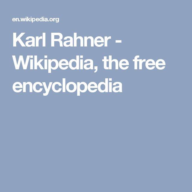 Karl Rahner - Wikipedia, the free encyclopedia