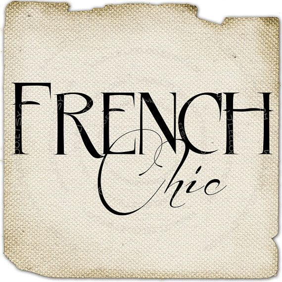 French chic Clip art Romantic burlap Large word art ...