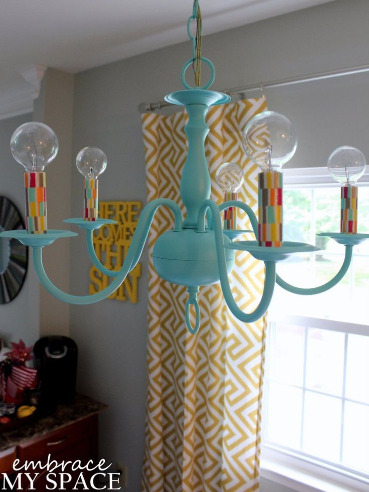 Best 25 cheap chandelier ideas on pinterest diy light fixtures wire basket chandelier and - Wire chandelier diy ...