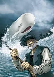 MOBY DICK Relato sobre la obsesión de un hombre por cazar una ballena en la que ve la encarnación del Mal. No es únicamente el odio contra un enemigo que lo ha mutilado lo que empuja al capitán Ahab a perseguir la ballena blanca, sino también su convencimiento de ha sido elegido por el destino para matar a ese ser maléfico, a pesar de que pierda la vida en el intento.