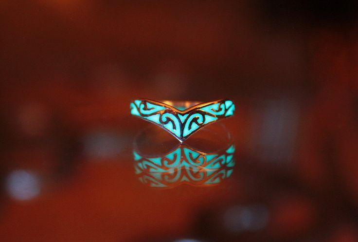 Celtic design ring GLOW in the DARK by Papillon9 on Etsy https://www.etsy.com/listing/196736119/celtic-design-ring-glow-in-the-dark