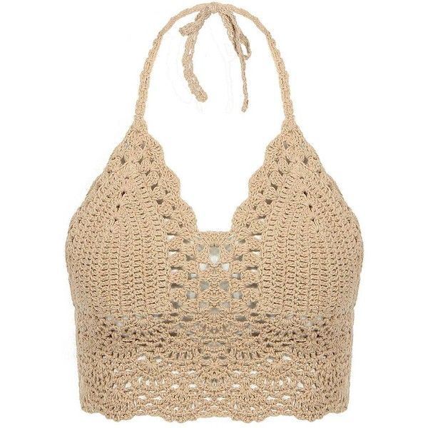 Yoins Yoins Beige Bralet Top ($10) ❤ liked on Polyvore featuring tops, shirts, crop tops, bralet, beige, shirts & tops, holiday tops, crop top, evening tops and cocktail tops