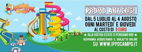 """Riparte la fantastica """"PROMOZIONE ANTICRISI"""" ma questa volta non è un solo giorno settimanale a prezzo speciale .....ma bensi' due.  Infatti partire dal 5 Luglio fino al 4 Agosto, ogni MARTEDI ed ogni GIOVEDI Ingresso unico a soli 9,00 Euro.  www.ippocampo.it  #AcquaparkIppocampo #promotion #water #slides #fun #goodbyecrisis #pool #Ippocampo #Manfredonia #happiness #amusement #amazing"""