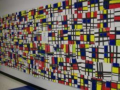 K Mondrian Masterpieces - love how they are displayed as one large painting!