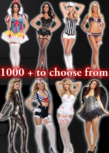 Chose any costume you want for FREE! http://www.eyekandeelingerie.com, http://www.eyekandeelingeriecanada.com or http://www.vancouvercostumeshop.com    Bunny, Cop, Nurse, Deluxe, Peacock, Showgirl, Pirate, Maid, Gangster, Fairytale, Angel, Devil, Create Your own costume & more!