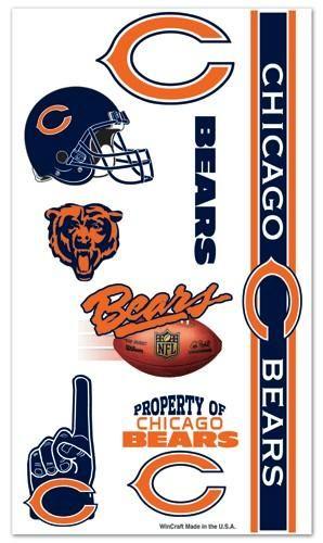 Chicago Bears Tattoos Temporary