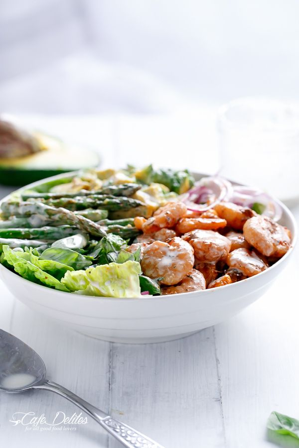 Asparagus Salad With Shrimp Recipe — Dishmaps