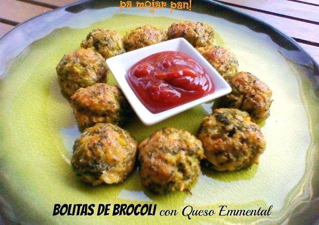 pa mojar pan!: Bolitas de Brocoli con Queso Emmental