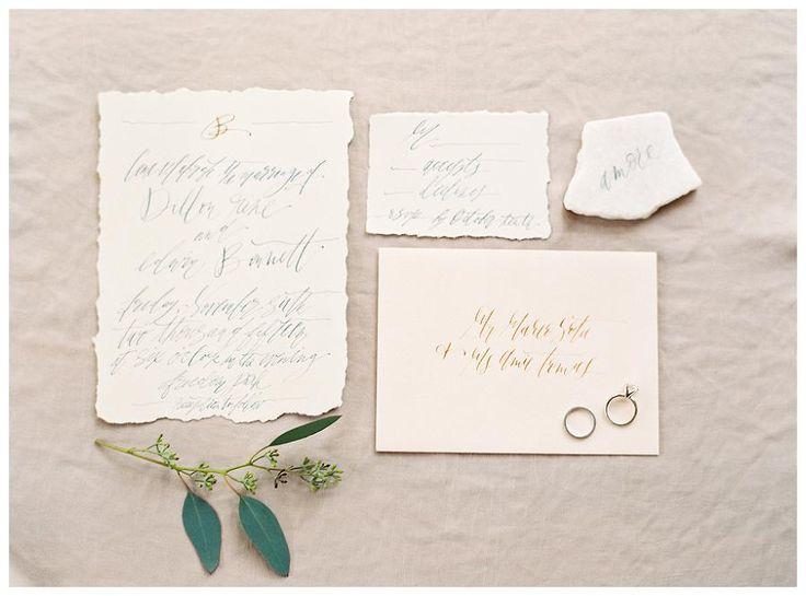 Deckled wedding invitations