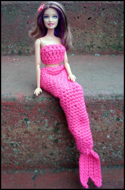 Mamma That Makes: Barbie Mermaid Tail -+ Free crochet pattern