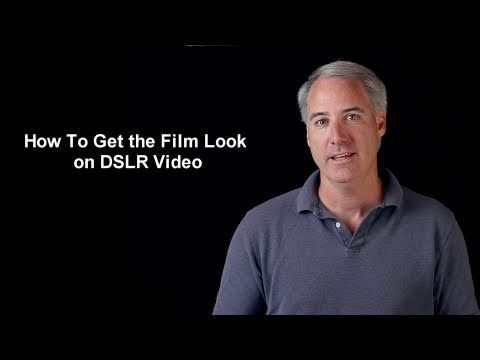 How To Get the Film Look on DSLR Video - YouTube Shoot at 24 frames/sec, Shoot with SUPER SHALLOW depth of field - background out of focus, 720P or higher resolution, Color in post production, Don't Zoom in/out while shooting, Make your audio amazing.